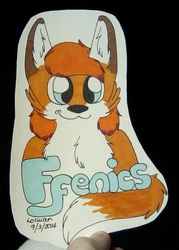 Headshot con badge for Ffenics