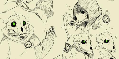 Forget Me Nots (Undertale AU) Pa Sketches