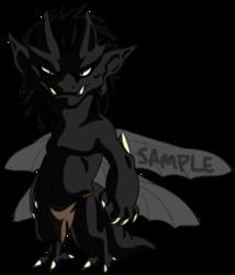 Sample Adoptable Imp - Black Shadowed