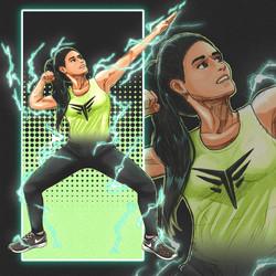 Comic Book Art of a Trainer