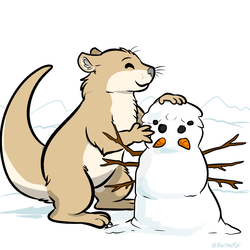 Daily Doodle #98 - Otter and the Snowder