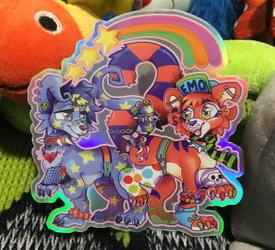 Sparkledog Neopets Holographic Sticker