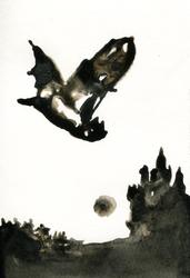 Inktober #23: Children of the Night