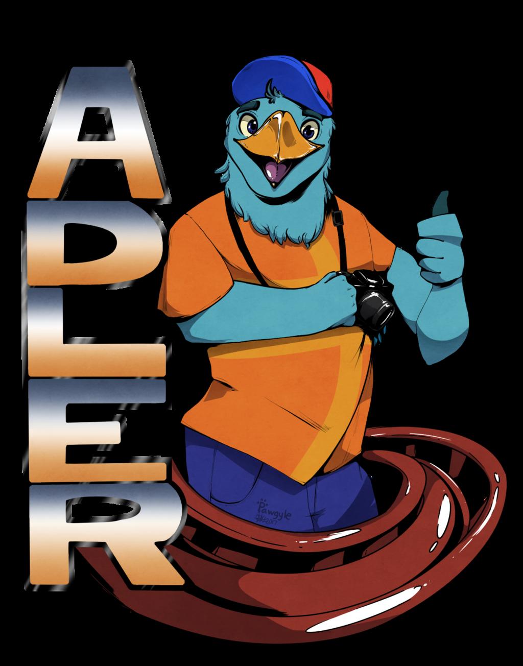 Adler coaster badge