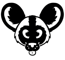 African Wild Dog decal