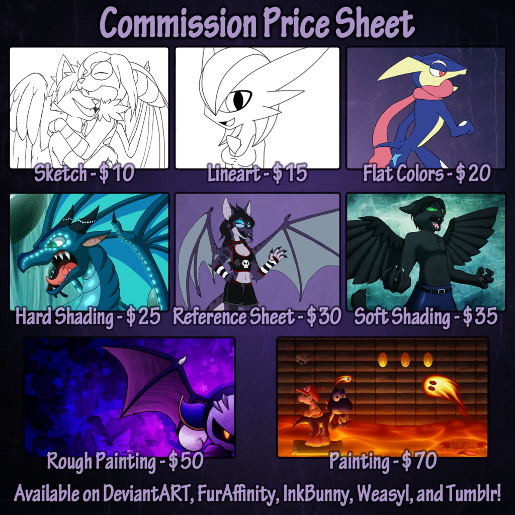 Commission Price Sheet