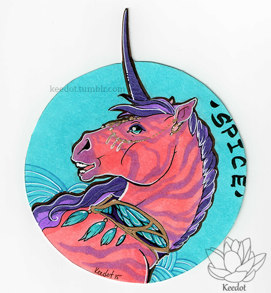 Circle bust badge// Spiceberry