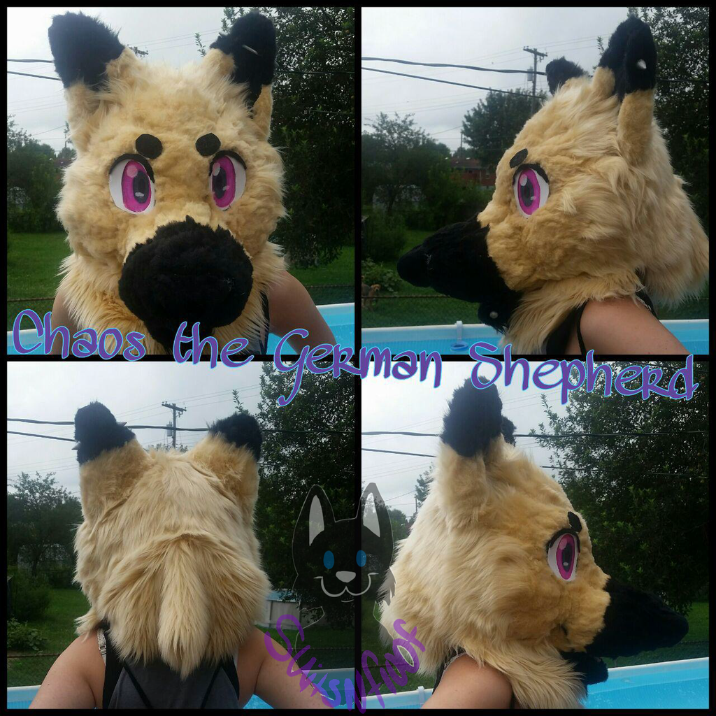 Most recent image: Chaos Fursuit Head turnaround {Personal}