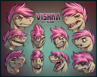 Vishka Expression Sheet
