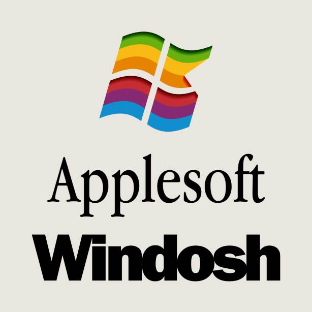 Apple/Microsoft Windows/Macintosh mashup logo