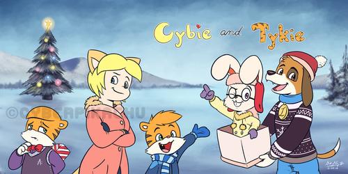 Cybie and Tykie - Winterfest Greetings