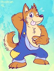 Wuffle the Big Nice Wolf