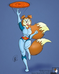 Barking, Scratching, Frisbee Catching...(Colored)