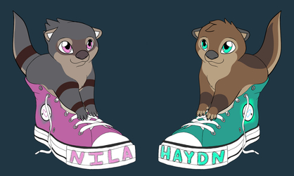 Nila and Hadyn Shoe Badges