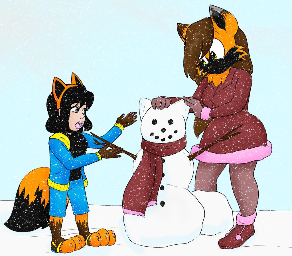 Most recent image: COLLAB: Building a snowfox