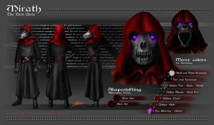 Mirath, the Dark Cleric RefSheet