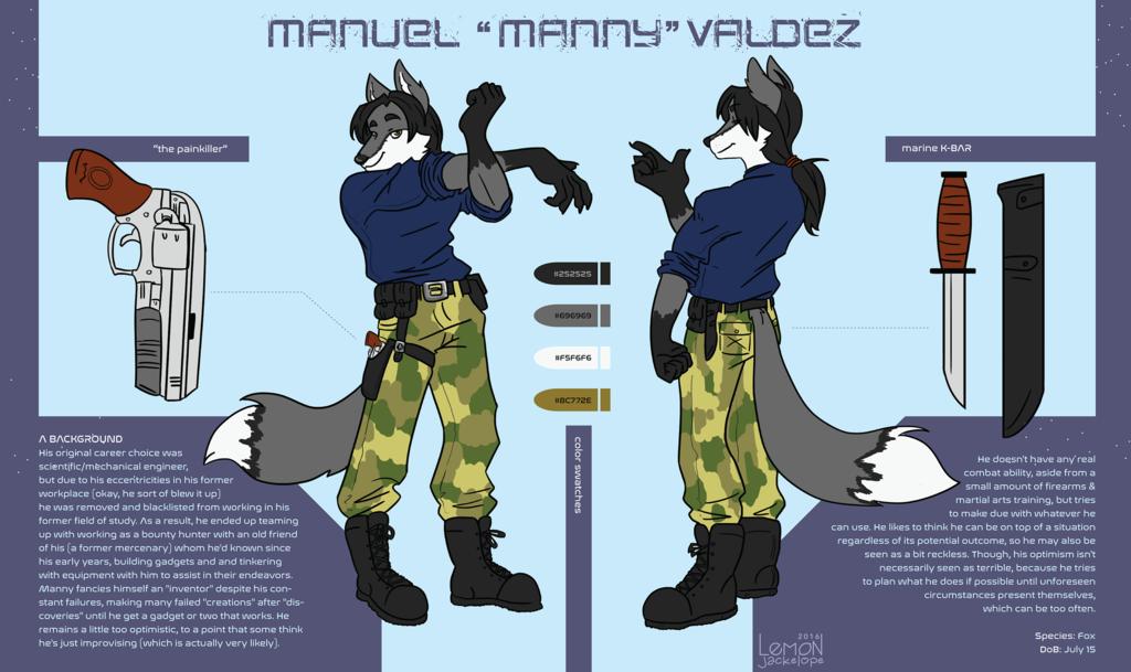 Most recent image: Manny's Reference Sheet(Lemon Jackelope)