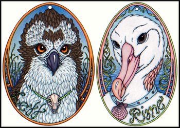 Lett & Rime Egg Badges