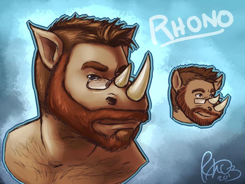 Rhono - Accurate fursona challenge