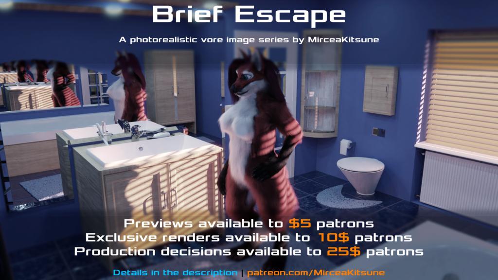 Brief Escape (announcement) (non-vore version)