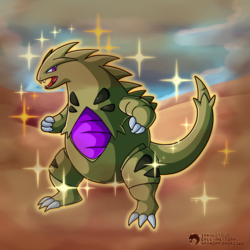 #248 - The Armor Pokemon - Tyranitar (Shiny)