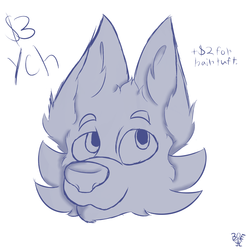 Canine head YCH  (0/10) OPEN