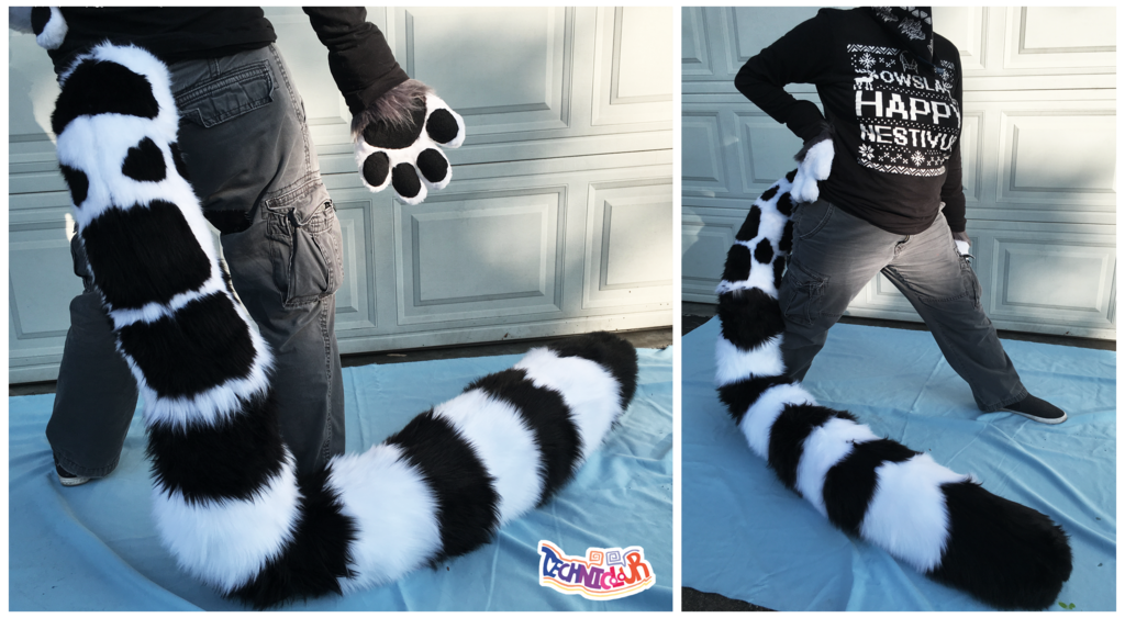Fuzzy Bolt Fursuit Tail