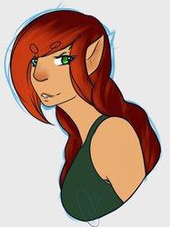 Colored Sketch of Mayra