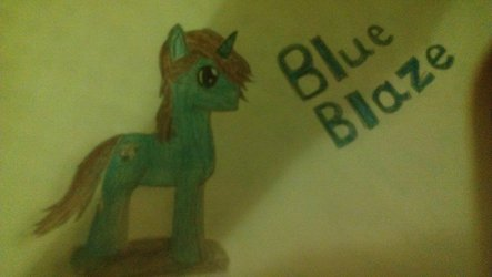 Blue Blaze: Pony Design