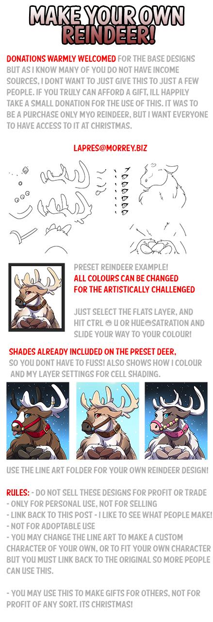MYO Reindeer File Pack! Donations Welcome!