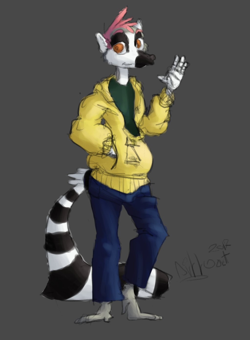Left-Handed Lemur
