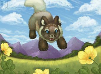 Field of Spring Arctic Fox