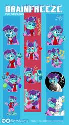 Brainfreeze Pup Stickers