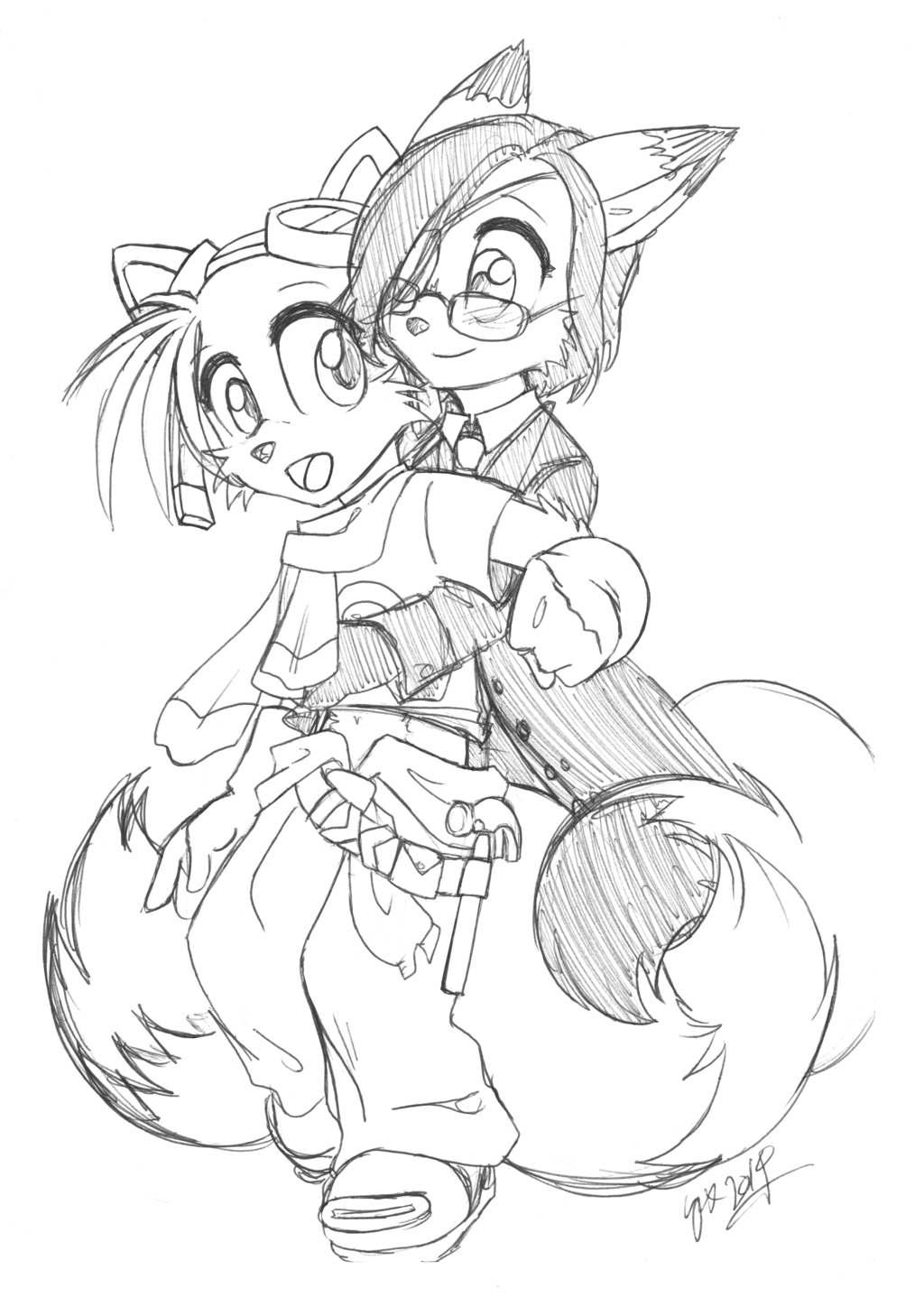 Most recent image: Tails x Sammy - Hug!