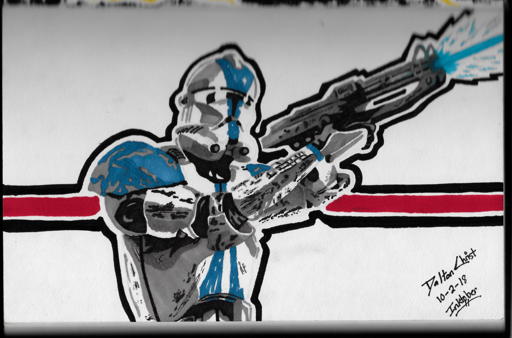 Remember the 501st! (Inktober 2018 Piece 2)