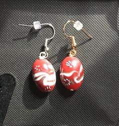 Christmas Peppermint Earrings