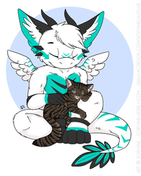 Kez & Kitty - Chibi