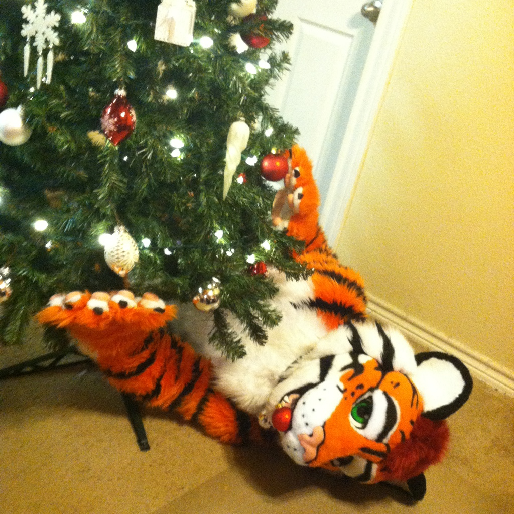 Best Game Ever! *Paws at ornaments* :D