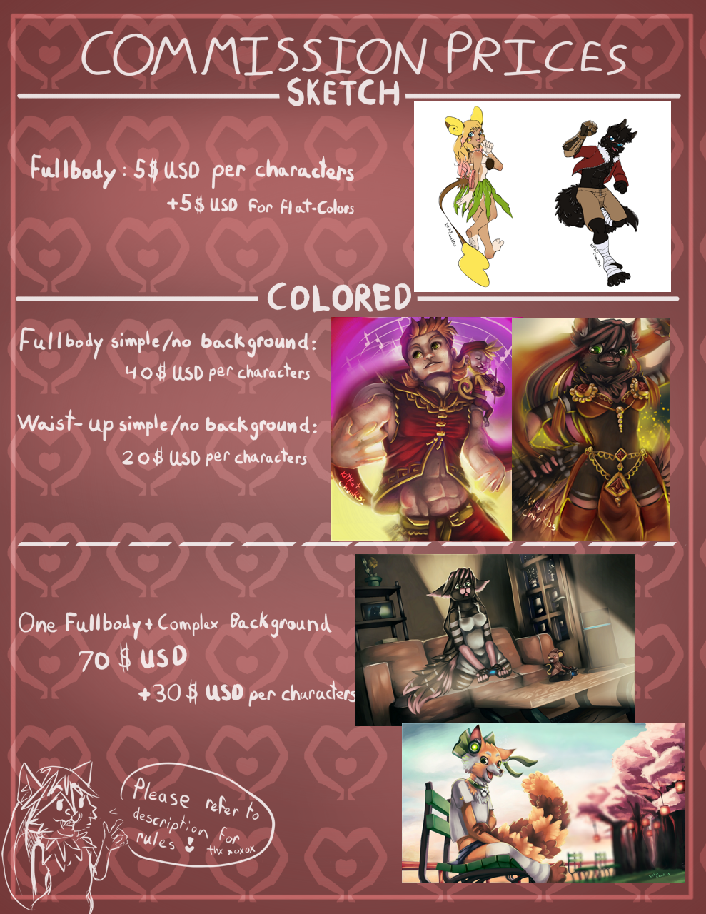 Kit's Commission Prices