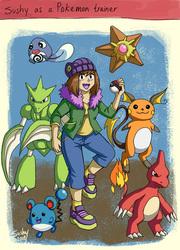 Sushy as a Pokemon trainer