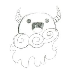 Happy Cloud Monster sketch