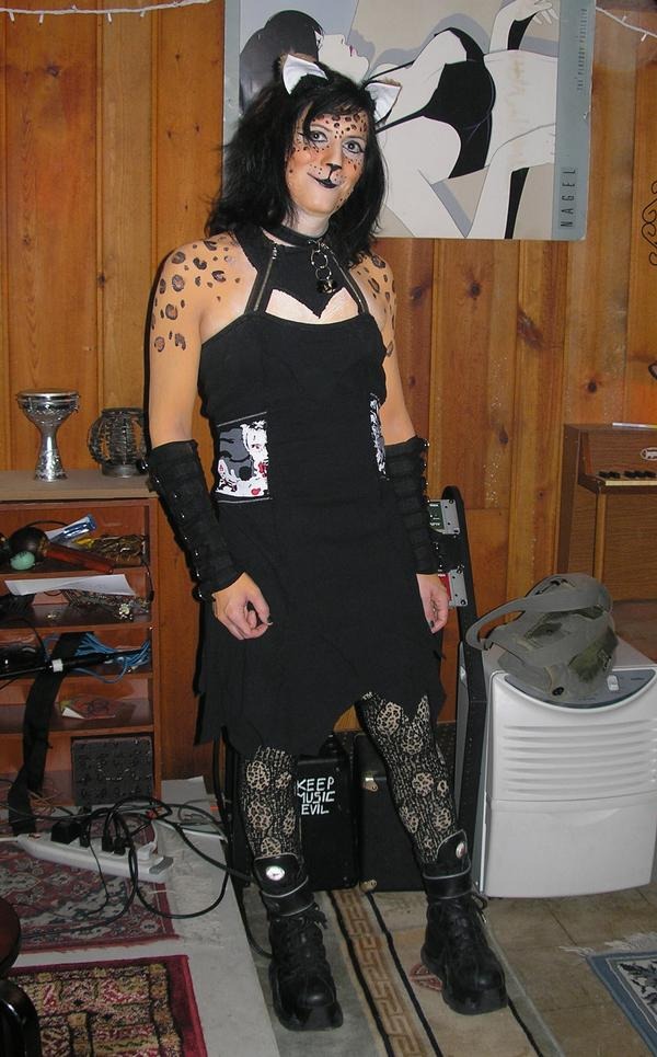 Leopard bodypaint, Halloween 2008