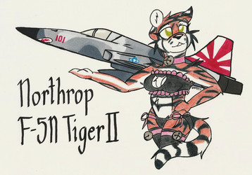Martial Pinups: Northrop F-5N Tiger II