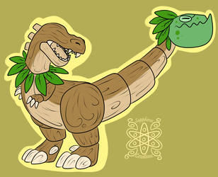 Woodend T-rex Trap +Flatcolored Commission+