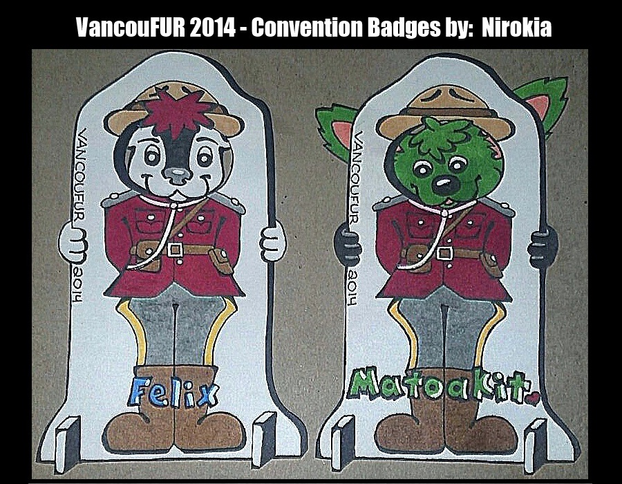 VancouFUR 2014 Convention Badges!