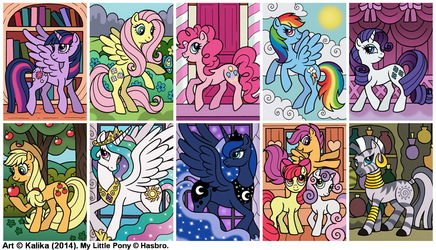 My Little Pony Magnets - 2014