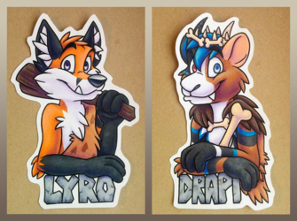 [C]Lyro & Drapi badges