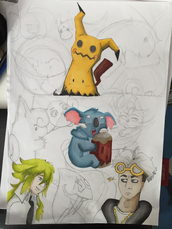 PokémonSheet [Commission / Wip & Alcohol Markers] - Final sketch