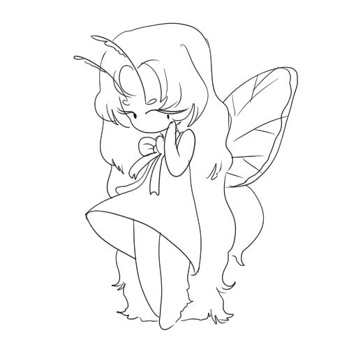 Tiny mothgirl