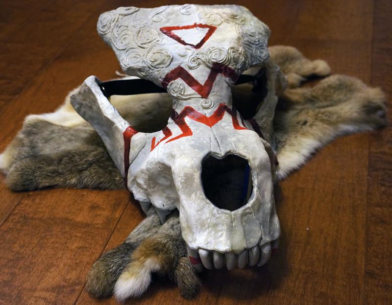 Hallowed Howl - Wolf Skull Mask Commission — Weasyl